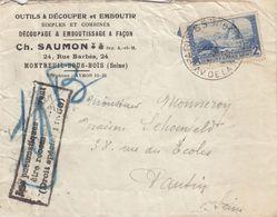SEUL SUR LETTRE . N° 311. LE MOULIN DE DAUDET. PNEUMATIQUE AVENUE DE LA REPUBLIQUE - 1921-1960: Periodo Moderno