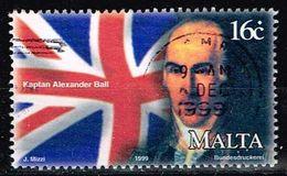 Malta 1999,Michel# 1096 O Captain Alexander Ball R.N. - Malta