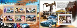 Guinea 2008, Oil Crisis, Cars, Porsche, 6val In BF+BF - Guinee (1958-...)