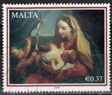 """Malta 2009,Michel# 1548 O Christmas: """"Virgin And Child"""" By Carlo Maratta - Malta"""