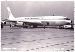 AVIATION CIVILE - AVION : BOEING 707 Of PAN AMERICAN On AIRPORT WIEN FLUGHAFEN / AUSTRIA - REAL PHOTO ~ 1965 (af382) - 1946-....: Era Moderna
