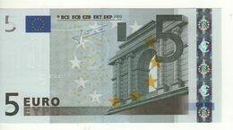 "5 EURO  ""V""   SPAGNA   Firma Trichet   M 011 I1   /  FDS - UNC - EURO"