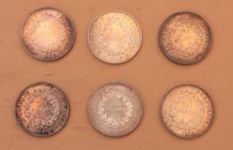 Lot 6 Pièces En Argent De 50 Francs - M. 50 Franchi