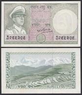 Nepal - 5 Rupees Banknote (1972) Pick 17 Sig.8 UNC (1)  (25672 - Bankbiljetten