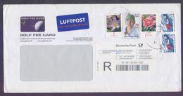 Flowers, Golf Fee, Postal History Cover GERMANY, Registered Used - Brieven En Documenten