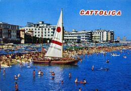 Cattolica - Alberghi E Spiaggia - Formato Grande Viaggiata – E 17 - Rimini