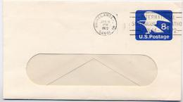 SNOWMOBILE MARATHON 1972 USA Slogan Cancel On U557 Rhinelander WI - Inverno