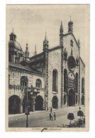 7091 - COMO CATTEDRALE ANIMATA 1930 CIRCA CARTOLINA L'ITALICA ASSICURAZIONE MILANO - Como