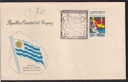 Uruguay - 1976 - FDC - Cachets Spéciaux - XXIIIe Championnat D'Amérique Du Sud De Natation - Saut Et Water-polo - A1RR2 - Zwemmen