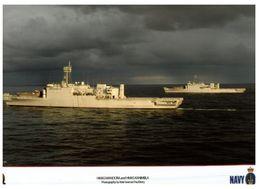 (I 18) Australian Navy Submarine HMAS Manoora, Kanimbla And Warramunga (firing) (2 Items) - Boats