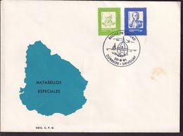 Uruguay - 1991 - Cachets Spéciaux - FDC - The Ocean Race - Régate De Voile Autour Du Monde - A1RR2 - Vela