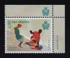 """2020 SAN MARINO """"CAMPIONATO EUROPEO DI CALCIO"""" SINGOLO MNH - San Marino"""