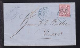 Ziffer 1 Gr. Auf Brief Mit K2 BERLIN H.ST.P.E. 28.2.68 Nach Ziesar - Conf. De L' All. Du Nord