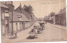 Dépt 62 - CARVIN - Rue D'Arras - (Nationale 25) - Animée, Carrioles - Frankreich