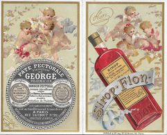Pub - Sirop FLON - Pharmacie Georgé - Rue Taitbout Paris - Angelots Art Nouveau - Reclame