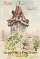 Stadtplan Von GRAZ - Ausgabe 1959 - CA Bankverein GRAZ - Cartes Géographiques