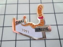 615C Pin's Pins / Beau Et Rare / THEME : ANIMAUX / RALLYE SMAE 1991 LOMBRIC VER DE TERRE - Dieren