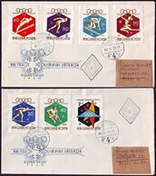 Hungary - 1960 - Winter Olympic Games 1960 - FDC - Winter 1960: Squaw Valley