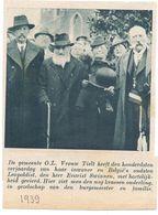 Orig. Knipsel Coupure Tijdschrift Magazine - O.L.Vrouw Tielt - 100 Jarige Evarist Swinnen - 1939 - Ohne Zuordnung
