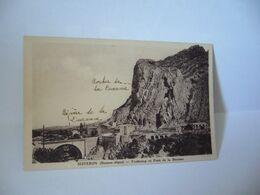 SISTERON BASSES ALPES  04 ALPES DE HAUTES PROVENCE FAUBOURG ET PONT DE LA BEAUME CPA 1937 - Sisteron