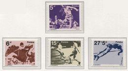 POLAND 1983 Mi 2864-67 Medals Of Polish People At The Olympic Games In Moscow And FIFA World Cup In Spain MNH** - Stamps