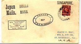 35666 - Paquebot SINGAPORE - Briefe U. Dokumente