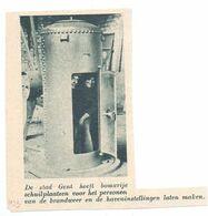 Orig. Knipsel Coupure Tijdschrift Magazine - Gent - Bomvrije Schuilplaatsen Voor De Brandweer & Havenpersoneel - 1939 - Alte Papiere