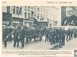 Orig. Knipsel Coupure Tijdschrift Magazine - Lokeren - Begrafenis Burgemeester A. Van Raemdonck - 1939 - Oude Documenten