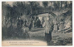 CPA - En Alsace - Abris Construits Par Nos Troupes Territoriales En Arrière Des Tranchées + Cachet - France