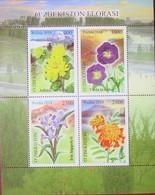 Uzbekistan  2018  2019  Flora Of Uzbekistan   Flowers  S/S   MNH - Ouzbékistan