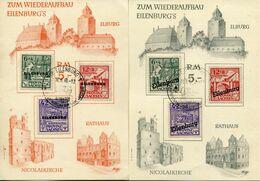 Lokalausgaben Eilenburg - Marken Gest. Auf 2 Karten - Soviet Zone