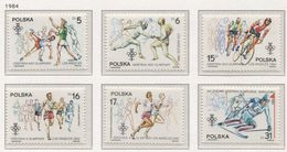 Poland 1984 Mi 2915-20 XIV Winter Olympic Games In Sarajevo And XXIII Olympic Games In Los Angeles LA MNH** - Sommer 1984: Los Angeles