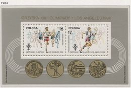 Poland 1984 Mi Bl. 94 XIV Winter Olympic Games In Sarajevo And XXIII Olympic Games In Los Angeles LA MNH** - Sommer 1984: Los Angeles