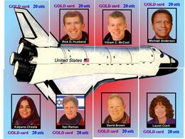 Space USA Puzzel Columbia - 8 CARDS  RARE!! - Puzzles