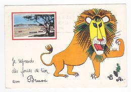 83 LE BRUSC Vers Six Fours Les Plages En Médaillon En 1968 Avec Le Lion Illustrateur ? VOIR DOS - Six-Fours-les-Plages