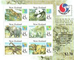 New Zealand 1994 Philakorea Stamp Exhibition Animals M/S USED ACS MS1183, LJ M38 - Blocks & Sheetlets