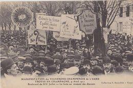 TROYES  Manifestation Des Vignerons Champenois De L' Aube Le 9 Avril 1911 - Troyes