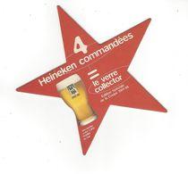 SOUS BOCKS  HEINEKEN   PUB VERRE COLLECTOR EN ETOILE  *****     A  SAISIR  ***** - Beer Mats