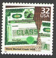 USA 1998 MiNr. 2965 Celebrate The Century Stock Market Crash, 1929 1v MNH ** 0,80 € - Usines & Industries