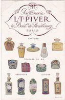 Parfumerie : L. T. PIVER : Fiche Publicitaire Avec Encoches : Recto - Verso : ( Format 17cm X 11cm ) - Oud (tot 1960)