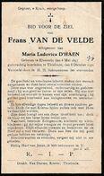 Elversele, Tielrode, 1931, Frans Van De Velde, D'Haen - Andachtsbilder