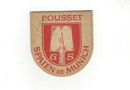 SOUS BOCKS  BIERE POUSSET  SPATEN DE MUNICH  *****          A  SAISIR  ***** - Beer Mats