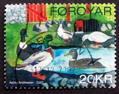 Faroe Islands  2007 .rooster And Chicken Animal     MiNr.613   ( O )  ( Lot E 1029) - Färöer Inseln
