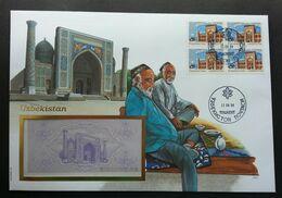 Uzbekistan Bibi-Khanym Mosque Islamic 1994 Heritage FDC (banknote Cover) *rare - Ouzbékistan