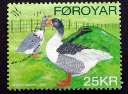 Faroe Islands  2007 .rooster And Chicken Animal     MiNr.614   ( O )  ( Lot E 1039) - Färöer Inseln