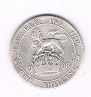 1 SHILLING 1908  GROOT  BRITANNIE /6419/ - I. 1 Shilling