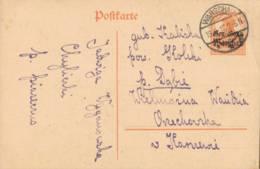 1917 WARSCHAU 7 1/2 Pfg GSKte M. Aufdr. - Ganzsachen