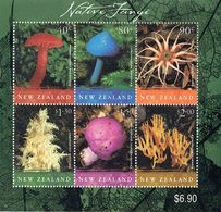 New Zealand 2002 Native Fungi M/S USED, ACS 1772, LJ M90 - Blocks & Sheetlets