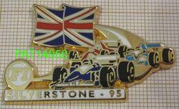 F1  SILVERSTONE 95 1995 WILLIAMS RENAULT FERRARI  BENETTON RENAULT  Cartouche Blanc En Version ZAMAC - F1