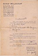 ECOLE BELLECOUR  19 PLACE BELLECOUR  A LYON COURS D COUPE A BERGERAC  RUE SAINT JACQUES  3/07/1945 - Diploma's En Schoolrapporten